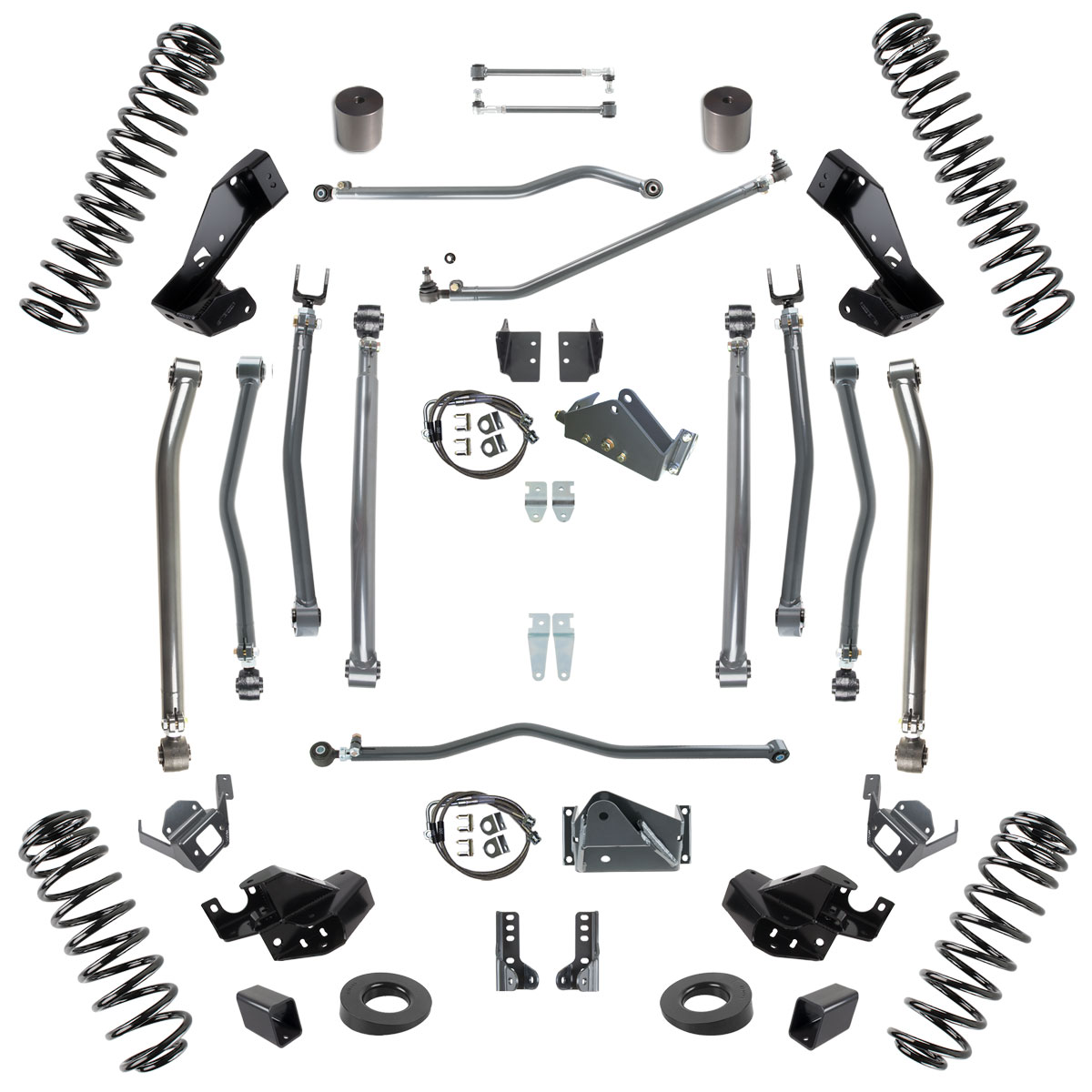 "Jeep JK Stage 4 Long Arm Suspension System, 6.0"" Lift"
