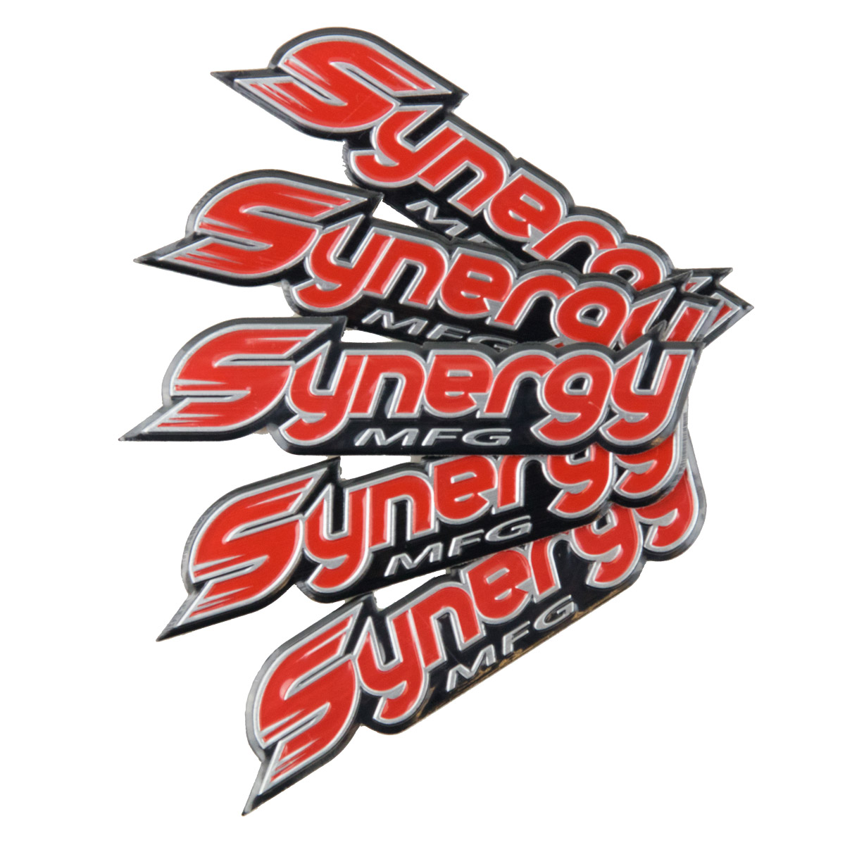 Synergy MFG Metal Embossed Emblem, 5 PK