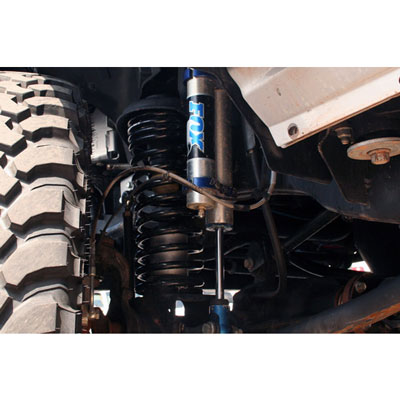 Jeep JK Universal Brake Line Installed in Front of Vehicle