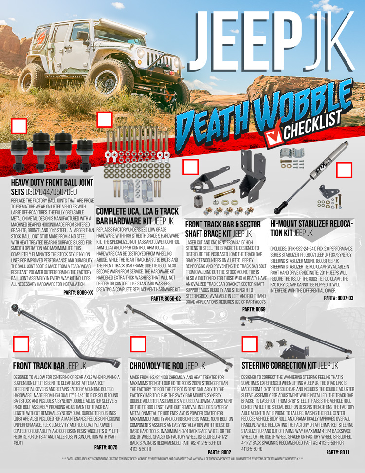 Jeep JK Death Wobble Checklist (FLYER)