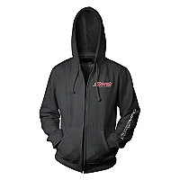 Synergy Logo Zip Up Hoodie, Black, Front
